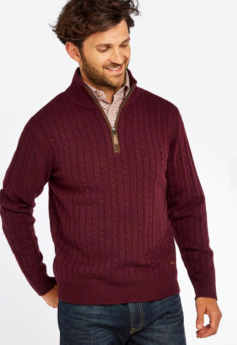 Thompson Knitted Sweater in Raison