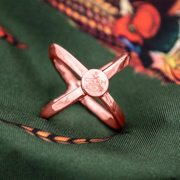 Clare Haggas Scarf Ring- Rose Gold