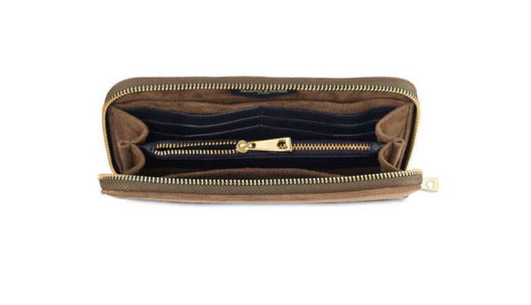 Fairfax & Favor Salisbury Purse - Tan/ Navy