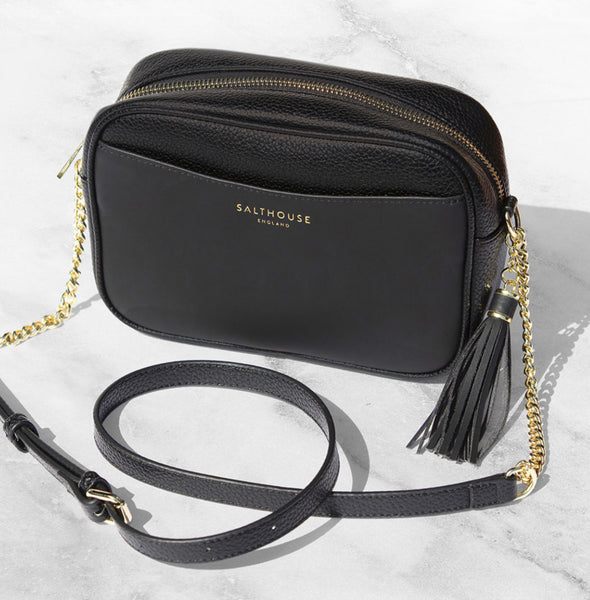 Adira Cross body Bag Beautiful Black by Salthouse