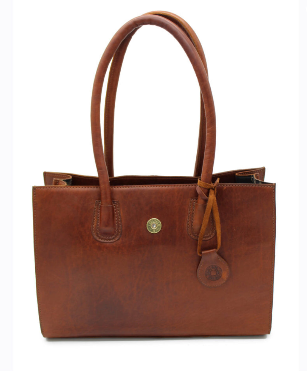 Chedworth Cartridge Handbag In Cognac