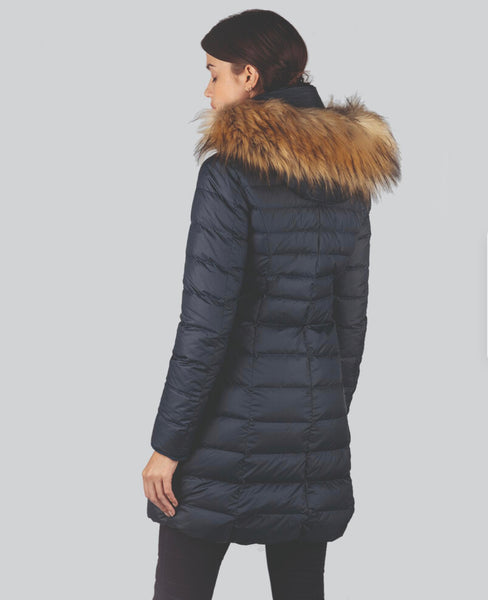 The Belgravia Down Coat in Navy by Schoffel