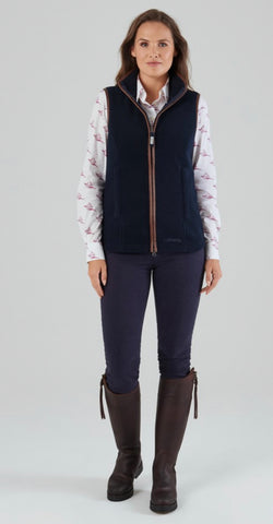Lyndon Fleece Gilet in Navy by Schoffel