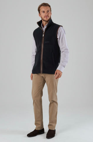 Oakham Fleece Gilet -Gunmetal by Schoffel