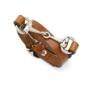 The Snaffle Bracelet in Tan by Mackenzie and George