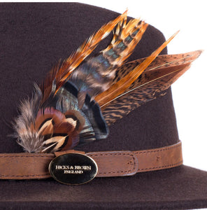 Hicks & Brown The Suffolk Fedora in Brown (Game bird)