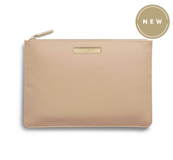 Katie Loxton Soft Pebble Perfect Pouch Bag -Tan