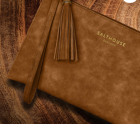 Salthouse Serafina Clutch Bag - Tempting Toffee