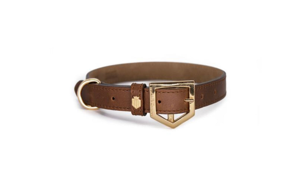 Fairfax & Favor Fitzroy Dog collar-Tan Leather
