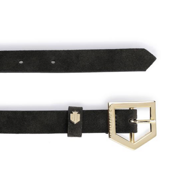 Fairfax & Favor Sennowe Black Suede Belt