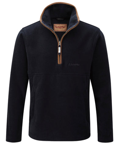 Berkeley 1/4 Zip Fleece by Schoffel - Navy