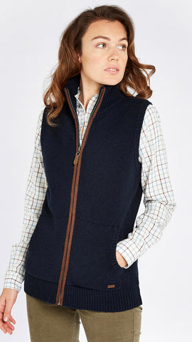 Sheedy Knit Bodywarmer- Navy by Dubarry