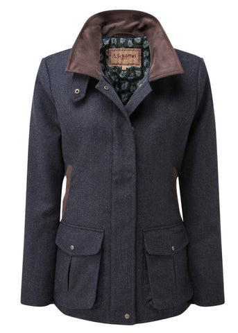 Lilymere Navy Herringbone Tweed Jacket