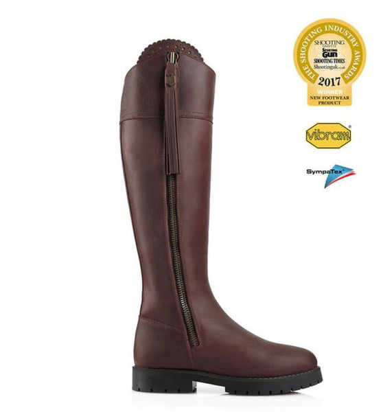 Fairfax & Favor The Explorer, Narrow Fit, Mahogany , Water Proof Boot