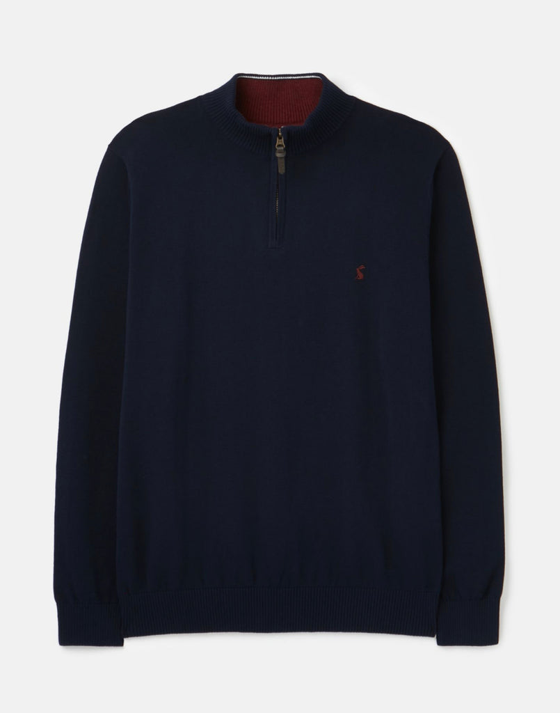 Joules Hillside Quarter Zip Funnel Neck Jumper