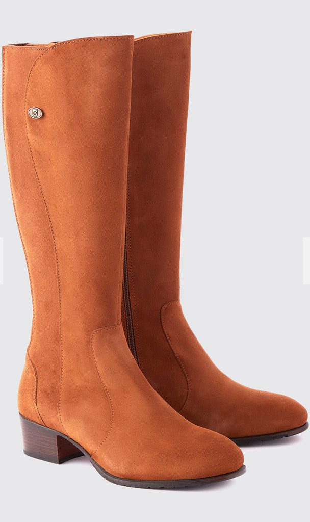 Downpatrick Knee High Boots In Camel