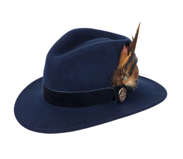 Hicks & Brown Chelsworth Fedora (Navy)