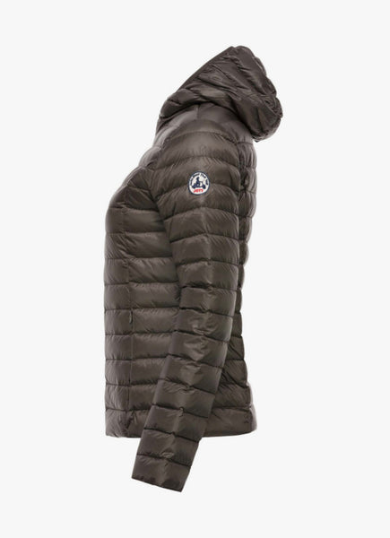 Lightweight Cloe Down Jacket by Jott in Plomb