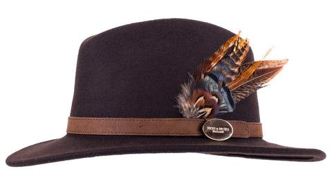 aead2de3 Hicks & Brown The Suffolk Fedora in Brown (Game bird)