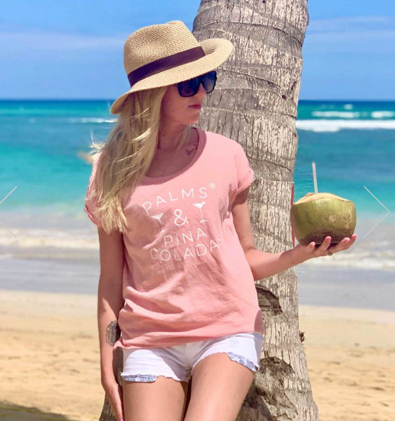Palm and Pina Coladas- Pink by Annabel Brocks