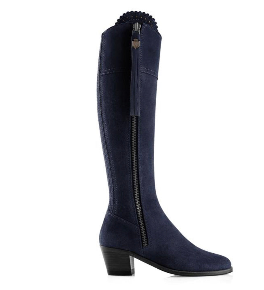 Fairfax & Favor Regina Heeled Narrow Fit - Navy