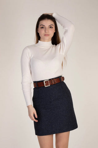 The Henrietta Skirt - First Lady Navy by Vantage Atelier