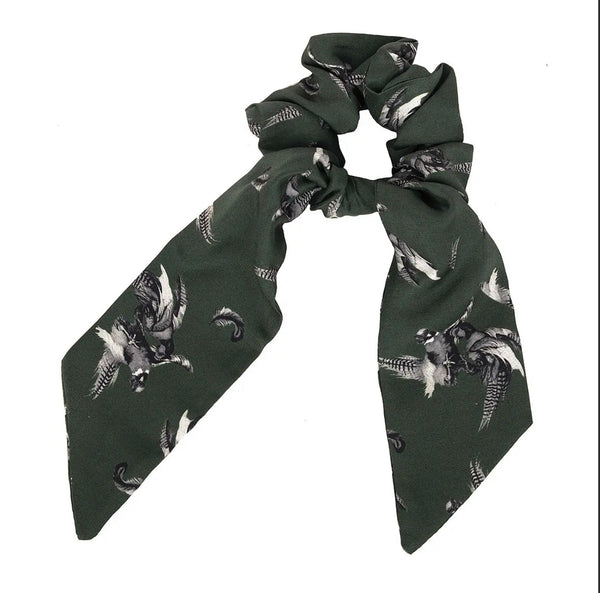 Clare Haggas Hair Scrunchie Turf War Monochrome - Khaki