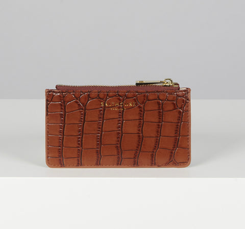 Salthouse Theadora Card Holder-Chestnut