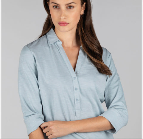 Schoffel Mill Bay Shirt in Ice Grey