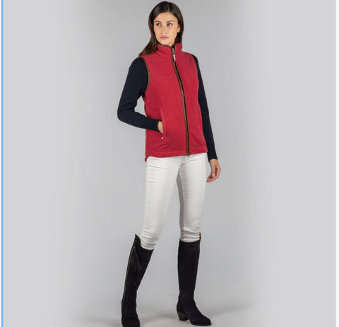 Lyndon Fleece Gilet in Pomegranate by Schoffel