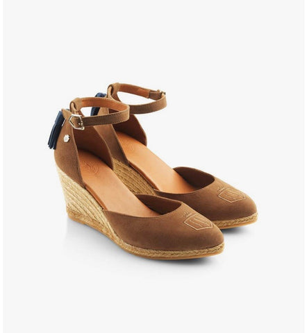 Fairfax & Favor Monaco Wedge Tan