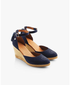 Fairfax & Favor Monaco Wedge Navy