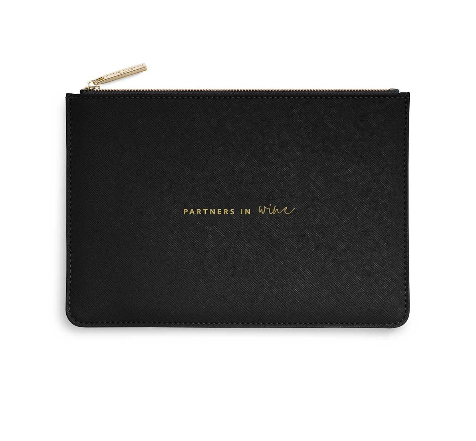 Katie Loxton  Perfect Pouch Bag 'Partners in Wine'- Black