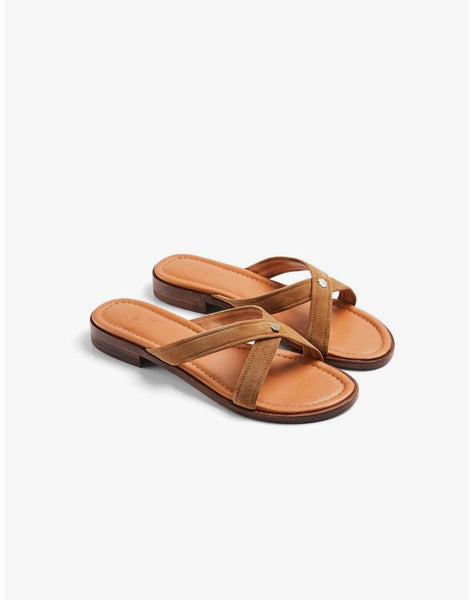 Copy of Fairfax & Favor THE HOLKHAM TAN SUEDE SANDAL