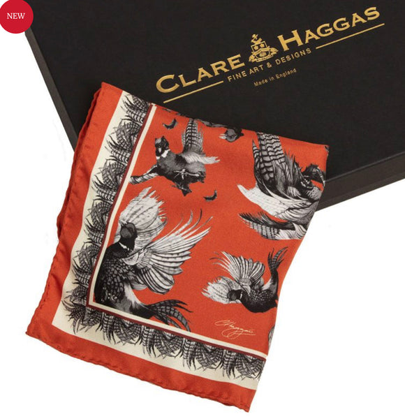 Clare Haggas Turf War Monochrome Hangbag Accessory- Russet