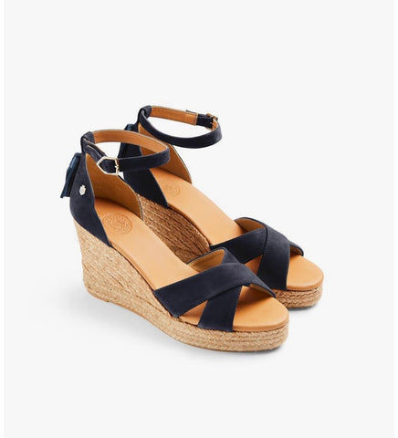 Fairfax & Favor The Valencia Wedge - Navy