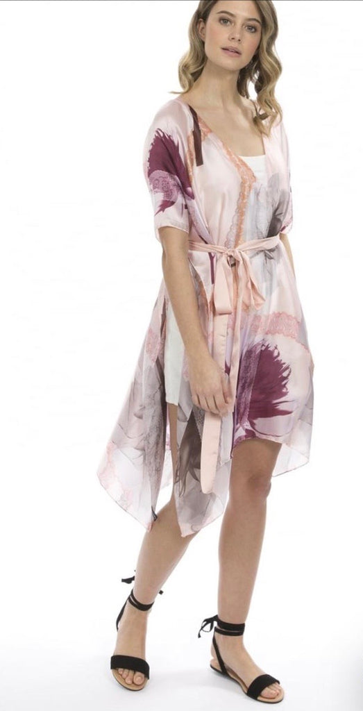 Silk print Kaftan by Jayley