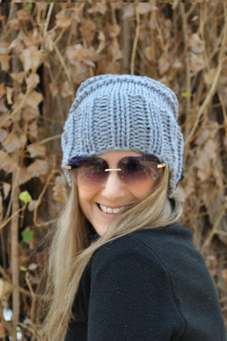 Slouch Beanie -Traditional - Australian Merino wool - 11 colours