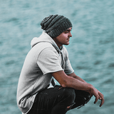 slouchy beanie bamboo and wool men and women