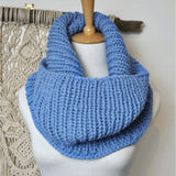 Hand Knit Pure Wool Cowl Scarf