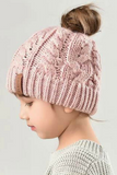Kids Ponytail Beanies- Kids Messy Bun Beanies