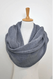 Womens knitted  Infinity Scarf grey