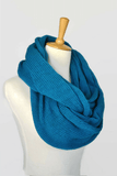 Womens knitted  Infinity Scarf- teal