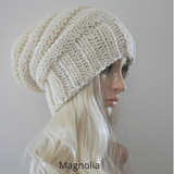 Men and Women's Slouchy Beanie cream