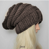 Men and Women's Slouchy Beanie brown