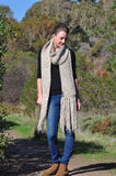 Hand Knit Scarf - Oatmeal
