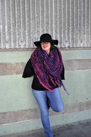 womens knitted shawl, triangle scarf