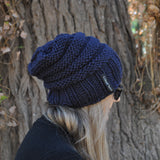 slouchy beanie bamboo and wool blue mens womens