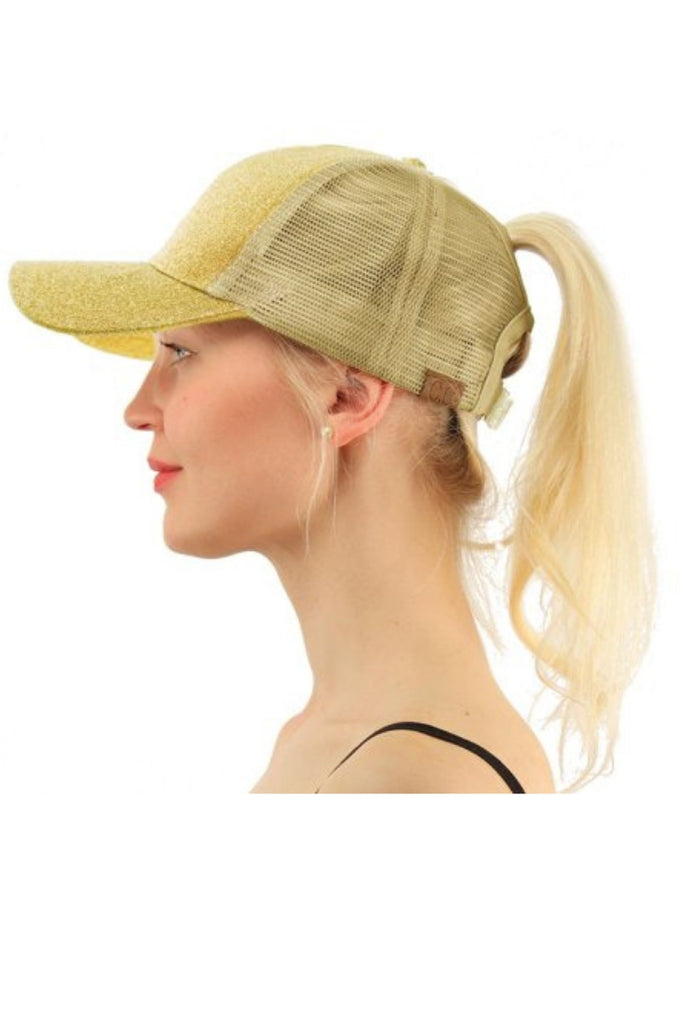💥💥GLITTER HIGH PONYTAIL CAPS - SALE- UNTIL SOLD OUT 💥💥 – Copperpenni 4c2b592b55b
