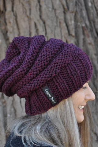 Men and Women's Slouchy Beanie- Beehive- 10 colours